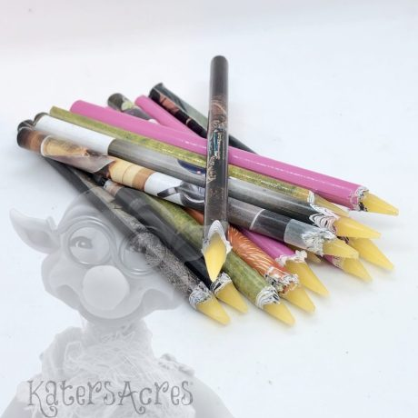 Resin Wax Pickup Pencils from Kater's Acres