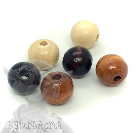 Large 12mm Wooden Cat's Eye Beads | Use for Eyes in Large Sculpting Projects by KatersAcres