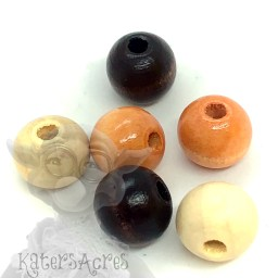 Large 10mm Wooden Cat's Eye Beads | Use for Eyes in Large Sculpting Projects by KatersAcres