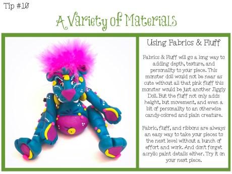 TIPS CARD 10 - Variety of Materials