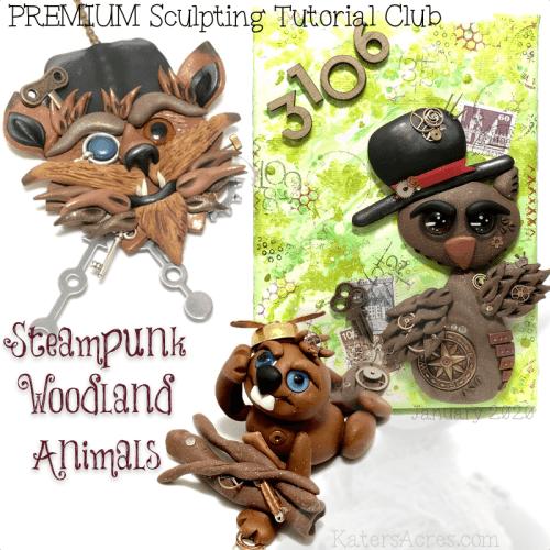 PREMIUM Club Tutorials - JANUARY 2020 - Steampunk Woodland Animals