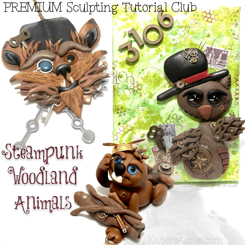 PREMIUM Club Tutorials - JANUARY 2020 - Steampunk Woodland Animals