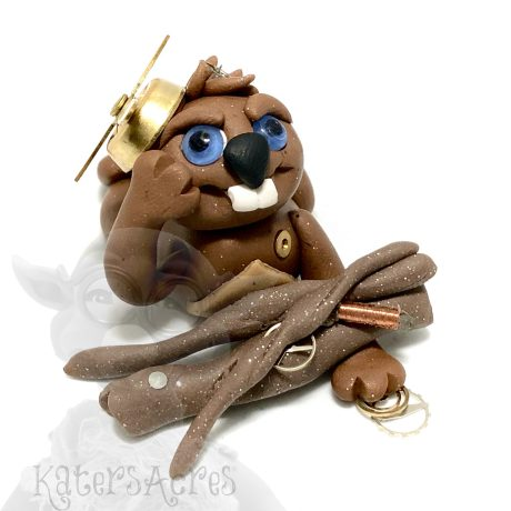 Polymer Clay BEAVER Front
