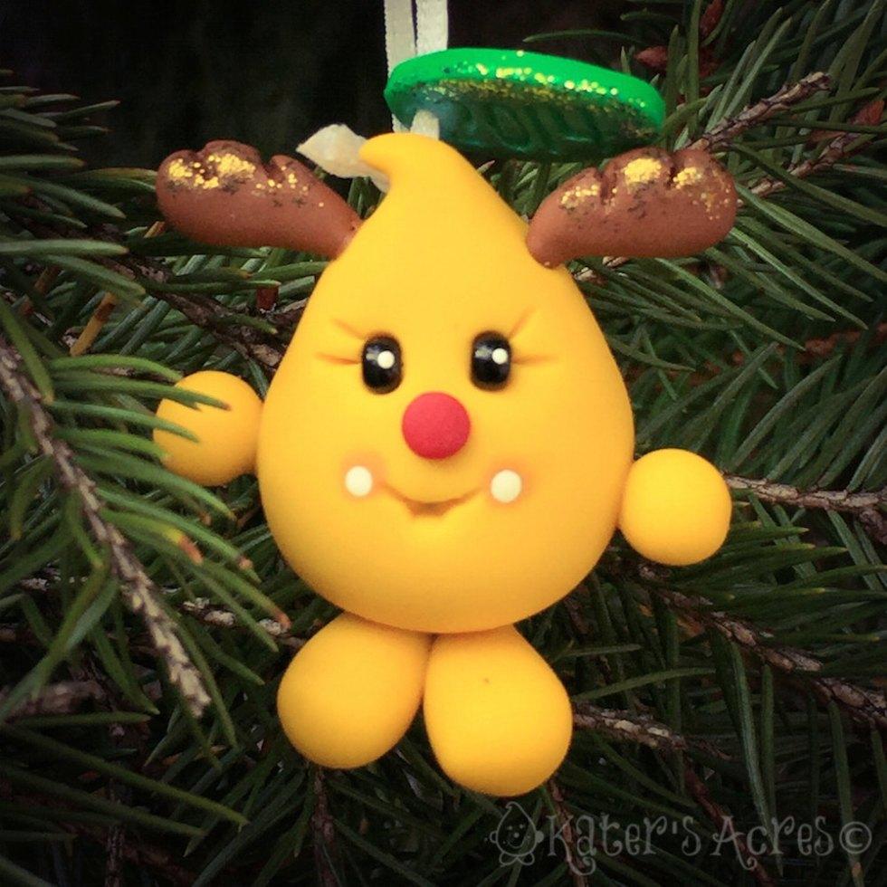 Reindeer Rudolf Parker Ornament by Kater's Acres
