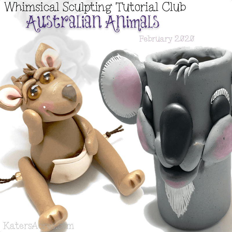 Whimsical Club Tutorials - FEBRUARY 2020 - Australia Animals by KatersAcres