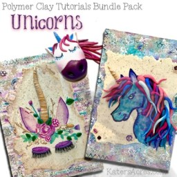 Polymer Clay UNICORN Tutorials Bundle Pack