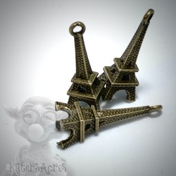 Paris Eiffel Tower Metal Charm from Kater's Acres