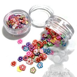 Millefiori Flower Cane Slices - 3g Small Jar
