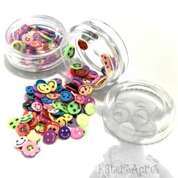 Millefiori Cane Smiley Faces Slices - 3g Small Jar