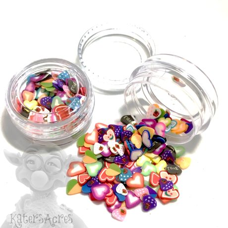 Millefiori Heart Cane Slices - 3g Small Jar