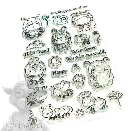 Cuties Insects Stamp Set from Kater's Acres
