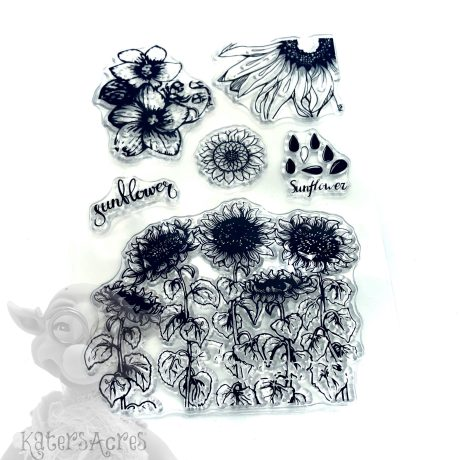 Sunflower Stamp Set from Kater's Acres