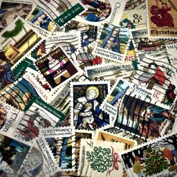 Christmas Postage Stamps for Mixed Media & Polymer Clay from Kater's Acres