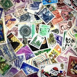 Worldwide Postage Stamps for Mixed Media & Polymer Clay from Kater's Acres