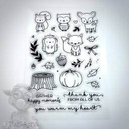 Forest Animals Stamp Set of Lodge Critters for Polymer Clay, Mixed Media, & Scrapbooking | Get it at Kater's Acres