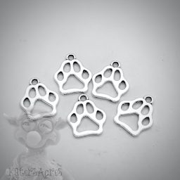 Paw Print Charms | Polymer Clay Jewelry Supplies from Kater's Acres