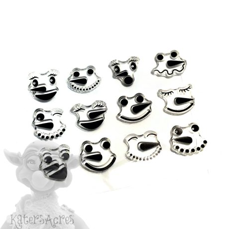 Snowman Face Stamps for Polymer Clay from Kater's Acres