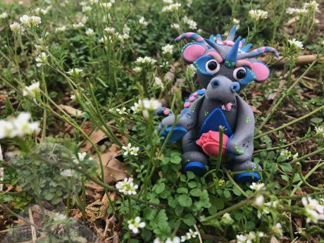 TULIP the Flower Dragon by Katie Oskin of Kater's Acres