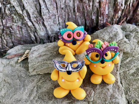 Masked Parker Polymer Clay Figurine from Kater's Acres