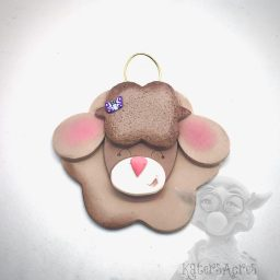 Sleepy Sheep Ornament with Butterfly from Kater's Acres