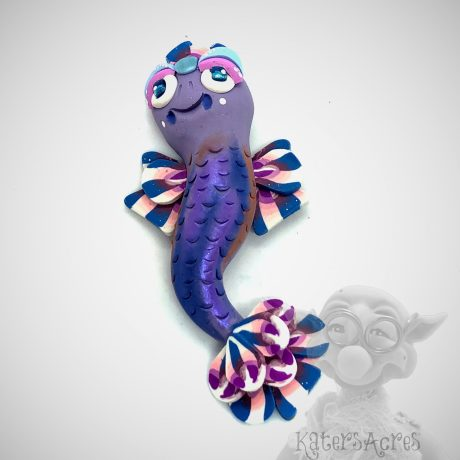 Purple Fantasy Fish Ornament from Kater's Acres