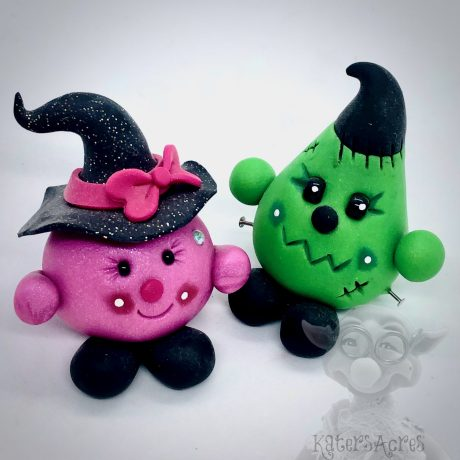 Witch & Frankenstein's Monster - Parker & Lolly Set from Kater's Acres