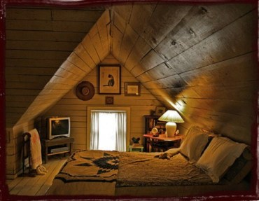 Attic rooms are always serene