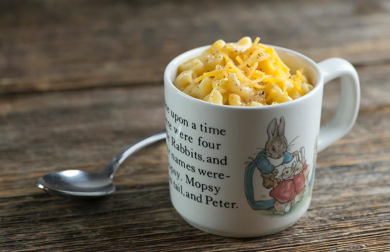 mac and cheese in a mug framed cooks