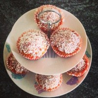 Cherry & Coconut Muffins