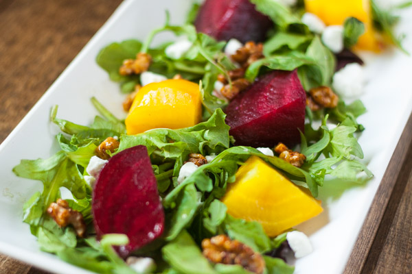 beet salad with orange dressing and goat cheese recipe