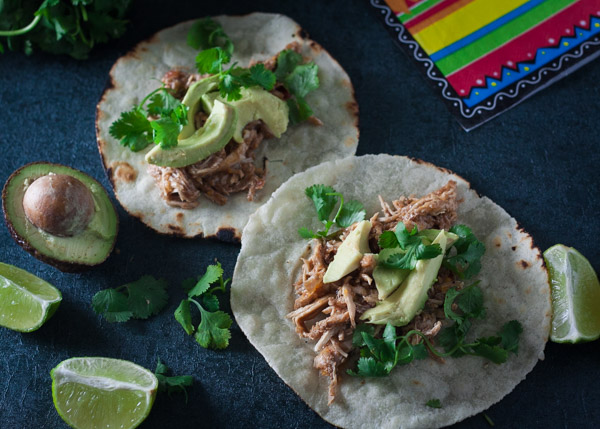 crock-pot chicken tacos, paleo crock-pot chicken tacos recipe, slow-cooker chicken tacos