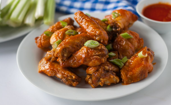 Crispy Baked Buffalo Wings with Dairy-Free Ranch Dressing recipe