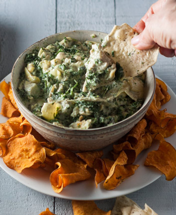 Spinach and Artichoke Dip, Paleo and Vegan and Whole30 Spinach Artichoke Dip recipe
