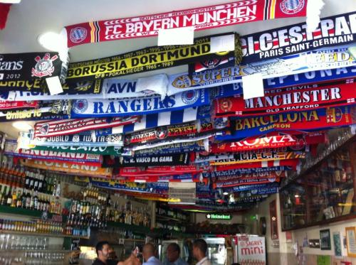 It seems anywhere in Europe you go, there's always a futbol bar...they have the cheapest beer so go right in if you need a break from exploring!