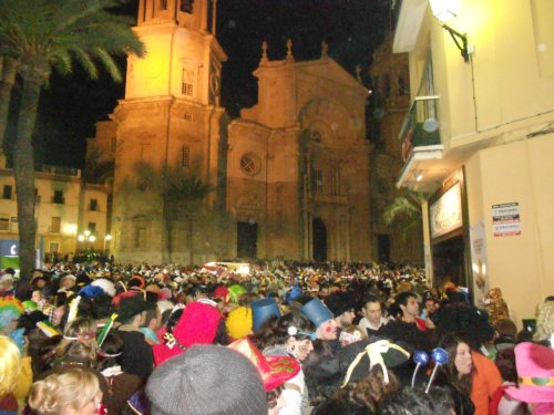 The Plaza de la Catedral in Cadíz at about 2am
