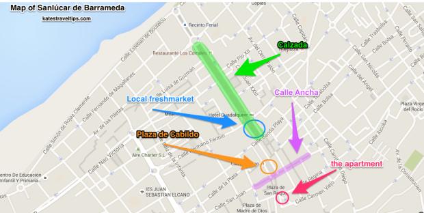 map of sanlucar de barameda