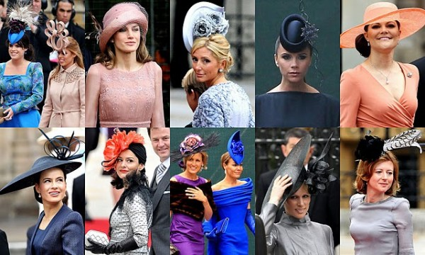 Examples of tocados worn to the Royal Wedding - some of these are a little to crazy for my taste!