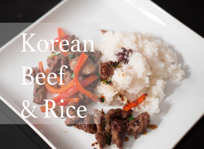 Koren Beef and Rice, Kate Style Petite