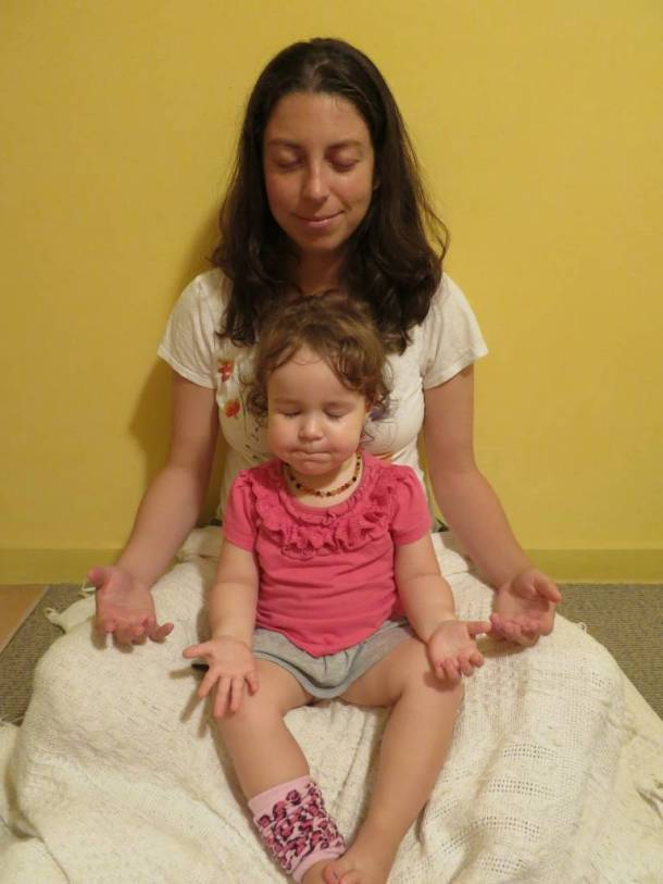 Margo and Kate Meditate