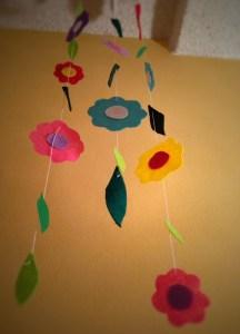 Hanging Felt Flowers