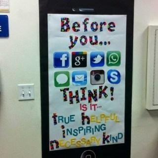 social media classroom decoration