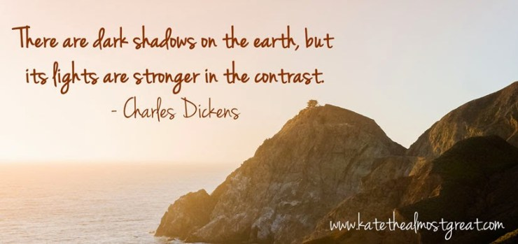 Charles Dickens inspirational quote about strength