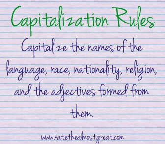 English Capitalization Rules - Kate the (Almost) Great