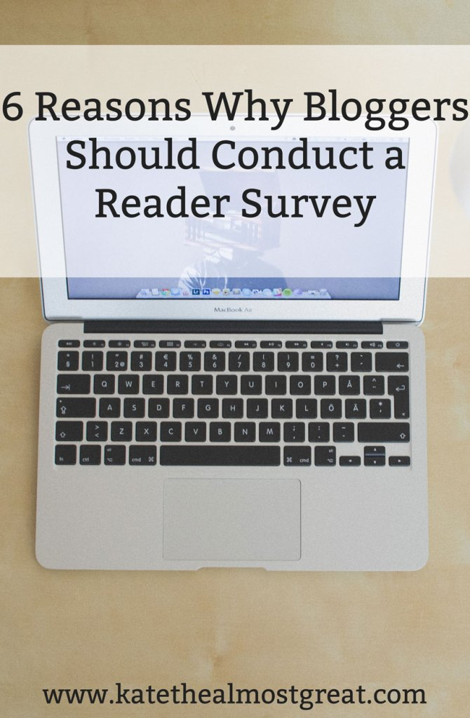 6 Reasons Why Bloggers Should Do a Reader Survey - Kate the (Almost) Great