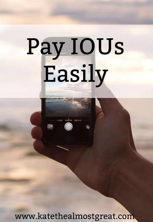 Pay IOUs Easily