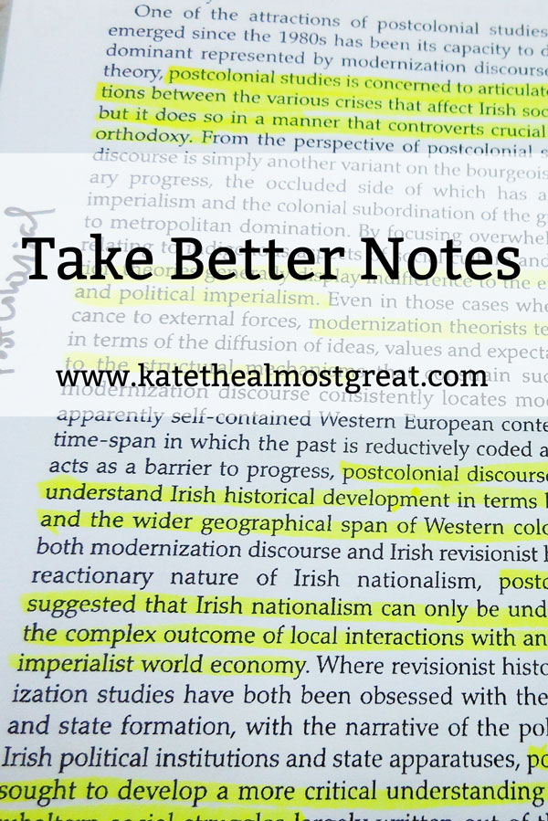 Take Better Notes