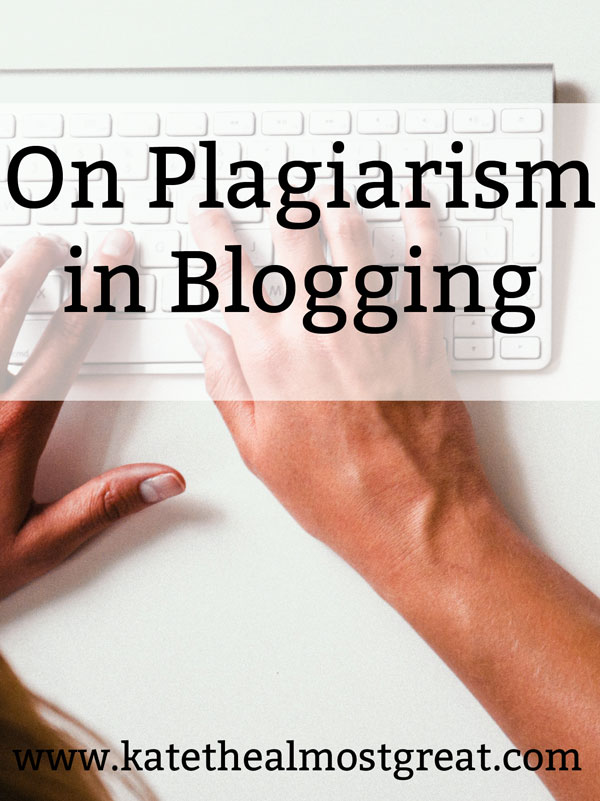 On Plagiarism in Blogging