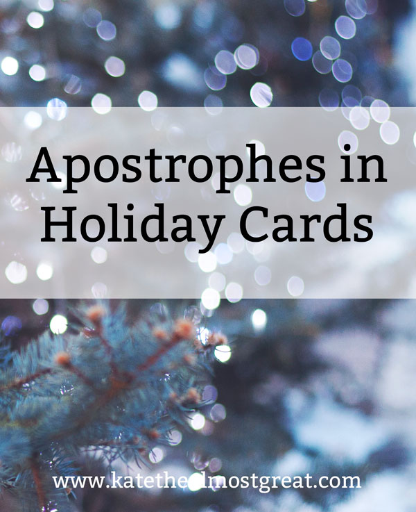 Apostrophes in Holiday Cards