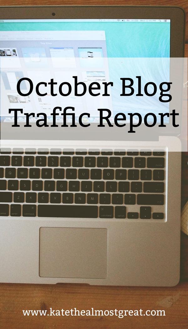 October Blogging Traffic Report
