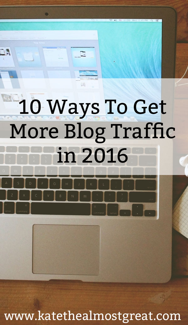 Get More Blog Traffic in 2016